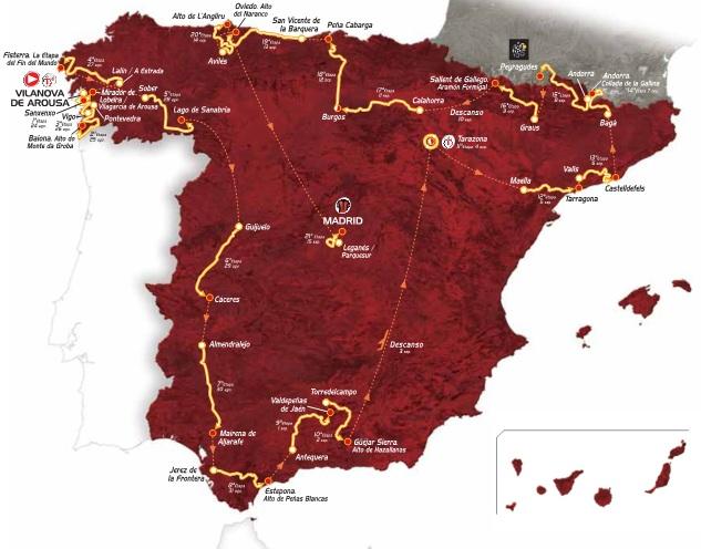 Strecke der 68. Vuelta a España- Foto: www.lavuelta.com