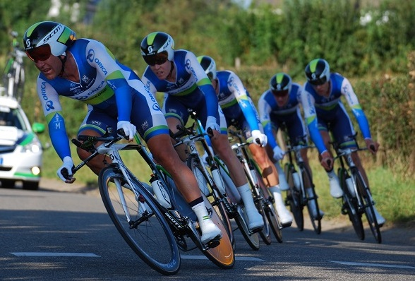 Sieger des Mannschaftszeitfahren der 100. Tour de France: Orica-GreenEdge - Foto: Christopher Jobb / www.christopherjobb.de