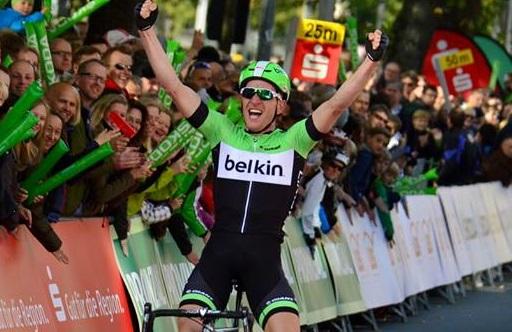 Zum zweiten Mal nach 2007 Sieger des Münsterland-Giros: Jos van Emden (Belkin) - Foto: Christopher Jobb / www.christopherjobb.de