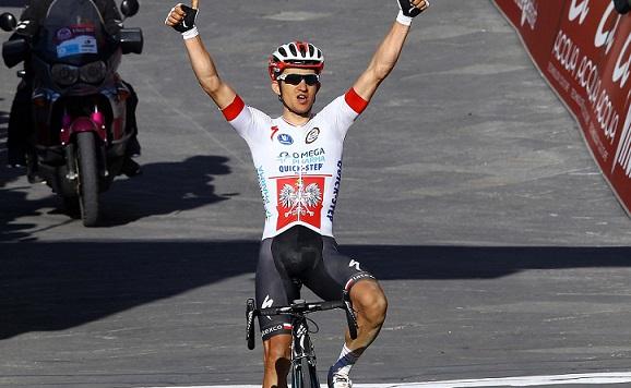 Michal Kwiatkowski (Omega Pharma-Quick Step) gewinnt die Strade Bianche 2014