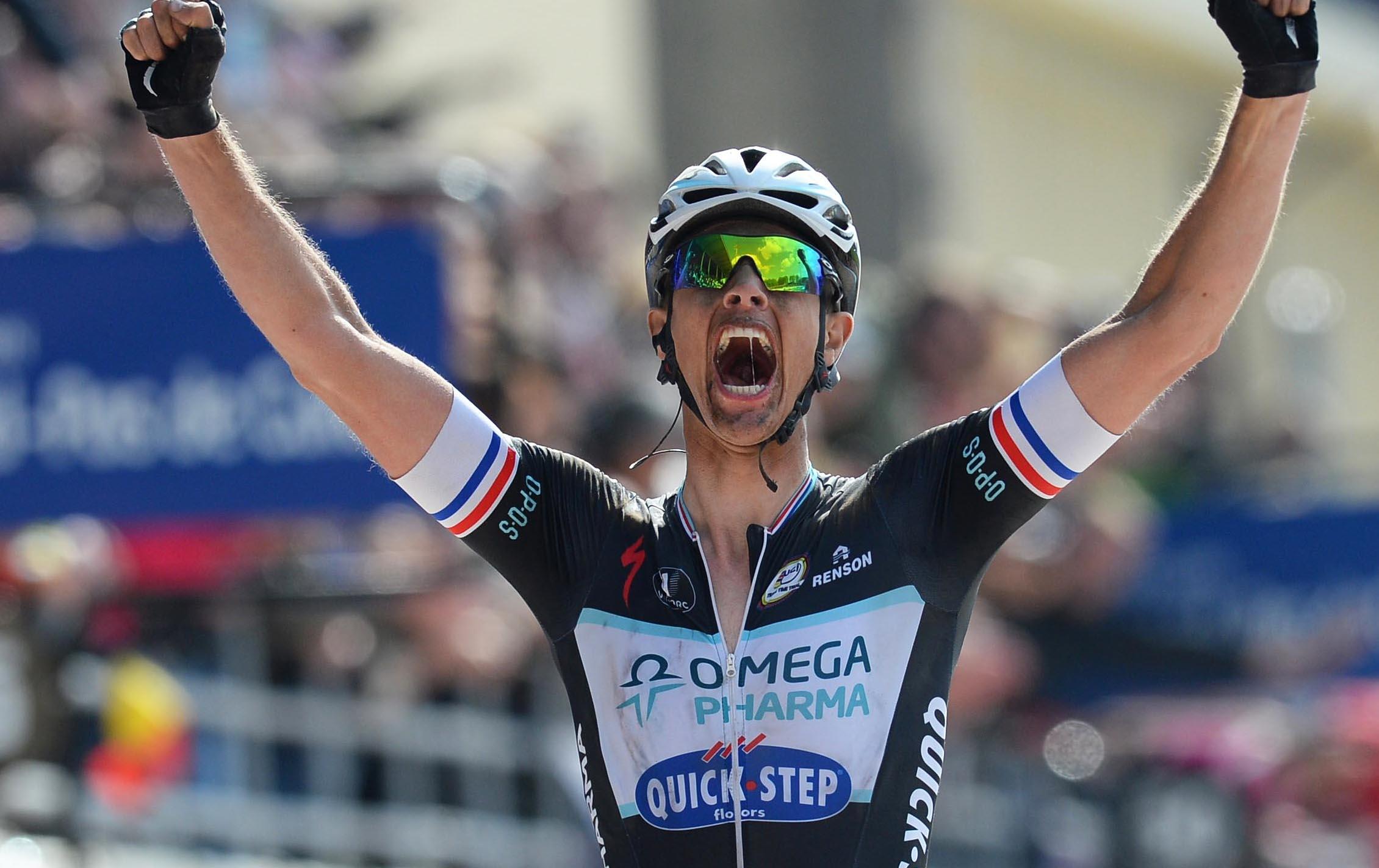 Niki Terpstra (Omega Pharma-Quick Step) gewinnt Paris-Roubaix