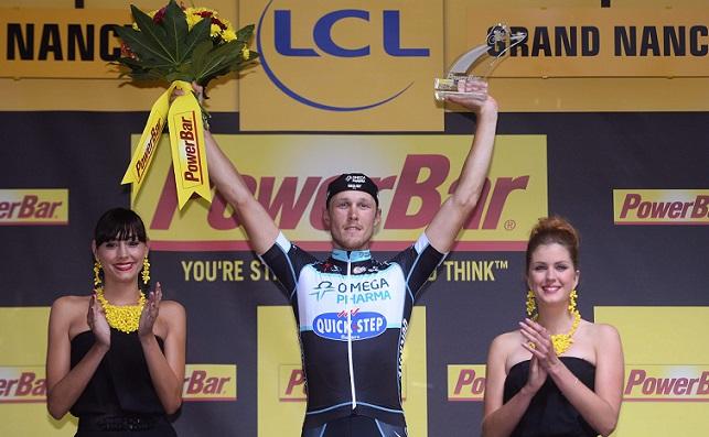 Matteo Trentin jubelt bei der Tour de France 2014