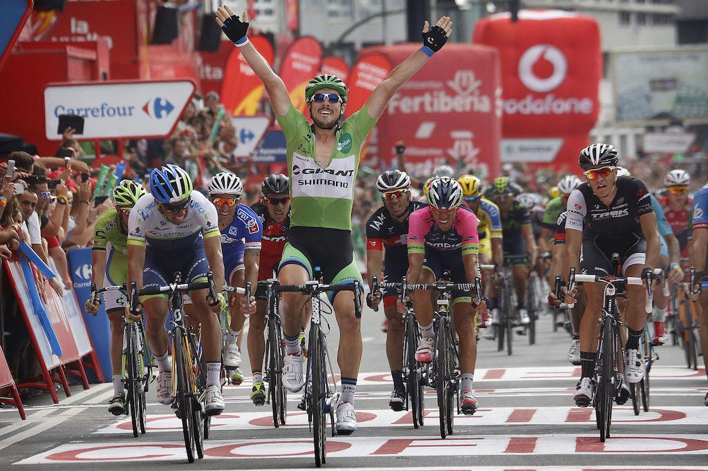 John Degenkolb (Giant-Shimano) gewinnt die 17. Etappe der Vuelta 2014