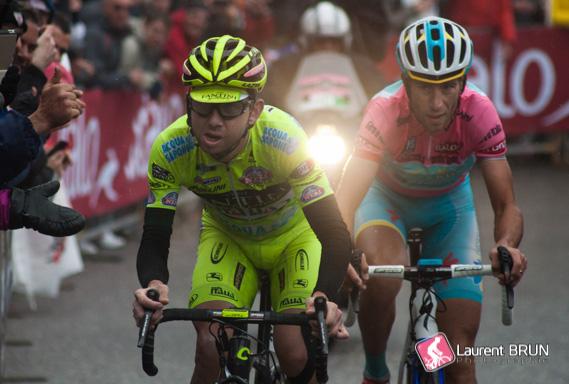 Mauro Santambrogio und Vincenzo Nibali beim Giro d'Italia 2013