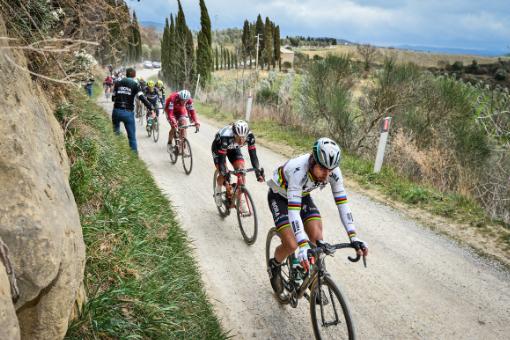 Weltmeister Peter Sagan bei der Strade Bianche 2017