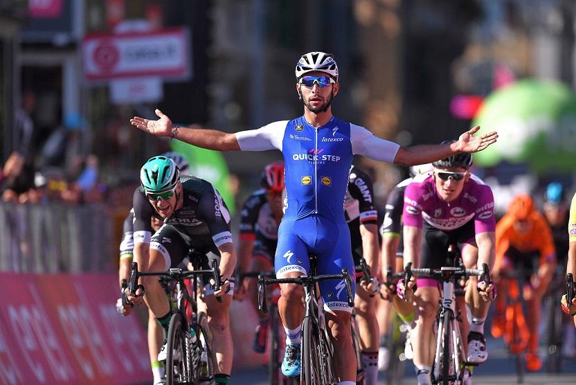 Fernando Gaviria (Quick-Step Floors) bejubelt seinen zweiten Etappensieg beim 100. Giro d'Italia