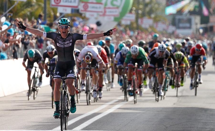 Auftaktsieger des 100. Giro d'Italia: Lukas Pöstlberger (Bora-hansgrohe) - Foto: ©BORA-hansgrohe / Stiehl Photography