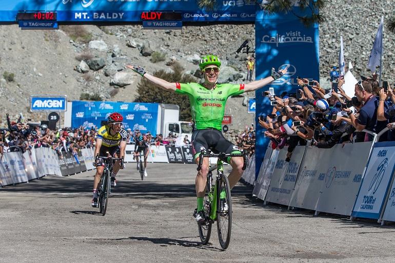 Jubel auf dem Mt. Baldy: Andrew Talansky (Cannodale-Drapac) gewinnt die Königsetappe der Kalifornien-Rundfahrt 2017