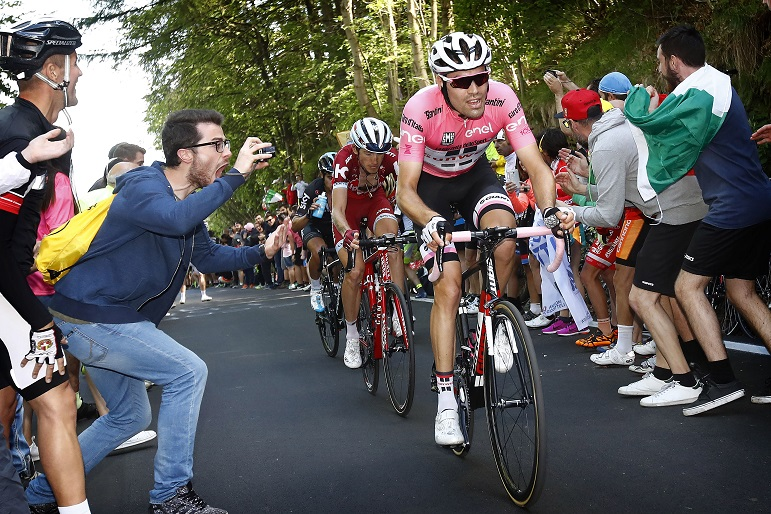 Tom Dumoulin auf der 14. Etappe des 100. Giro d'Italia