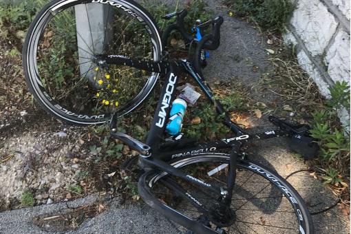 Das ramponierte Rad von Tour-Sieger Chris Froome (Sky)