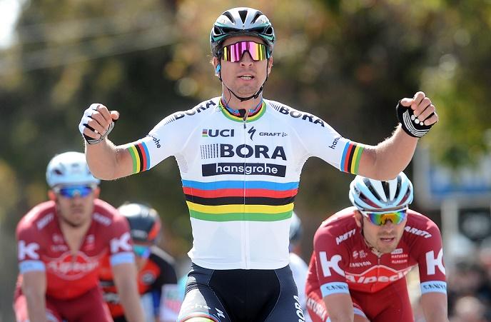 Jubel über Etappensieg Nummer 16 in Kalifornien: Weltmeister Peter Sagan (Bora-hansgrohe) - Foto: © BORA-hansgrohe / VeloImages