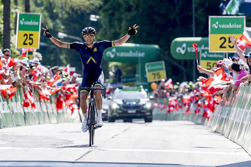 Solosieger der 4. Etappe bei der Tour de Suisse 2017: Larry Warbasse (Aqua Blue Sport) - Foto: Tour de Suisse / www.tourdesuisse.ch