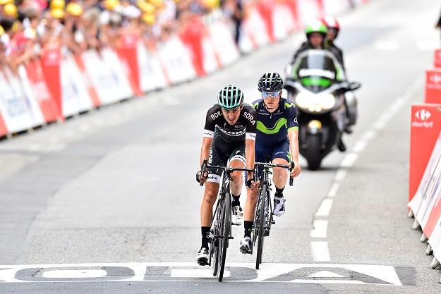 Emanuel Buchmann (Bora-hansgrohe) quält sich ins Ziel der 9. Etappe der Tour de France 2017 - Foto: © BORA-hansgrohe / Stiehl Photography