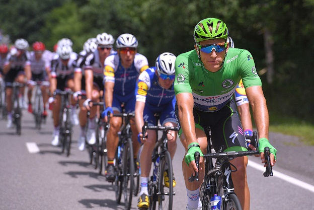 Ende in Grün: Marcel Kittel (Quick-Step Floors) wird die Tour de France 2017 nicht in Paris beenden - Foto: © Tim De Waele / Quick-Step Floors Cycling