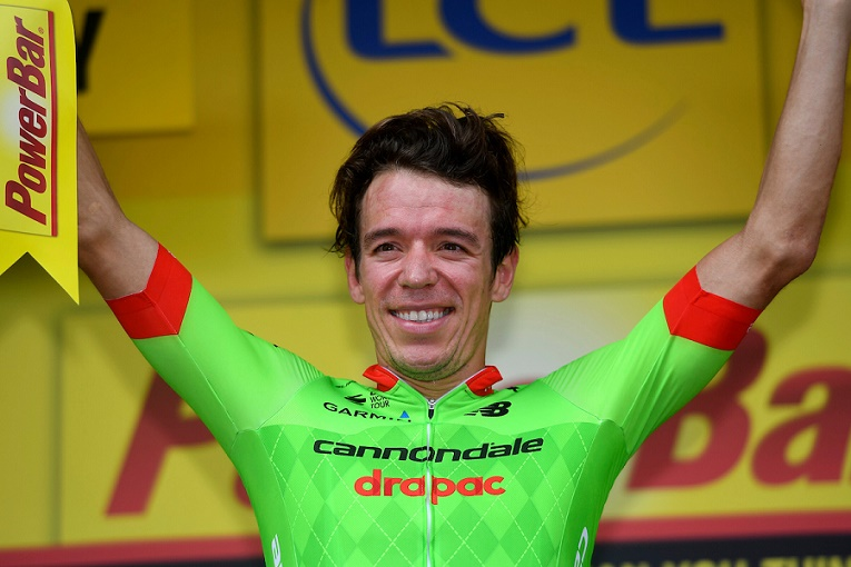 Jubelt Rigoberto Uran (Cannondale-Drapac) auch auf dem Podium in Paris? - Foto: Cor Vos / Slipstream Sports