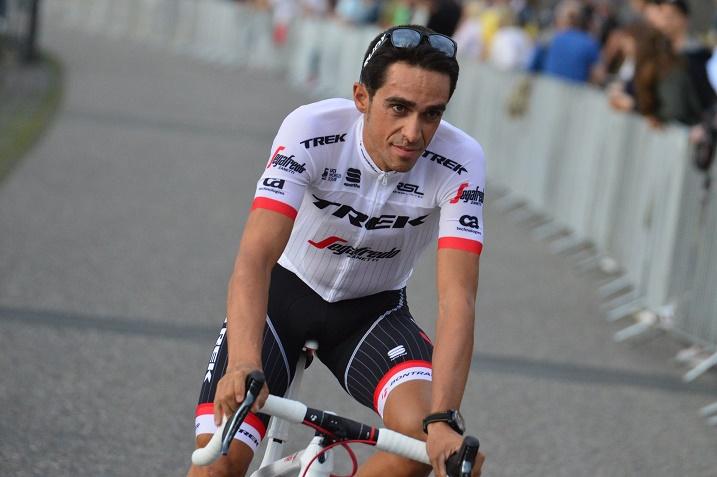 Vuelta das letzte Rad-Rennen von Alberto Contador