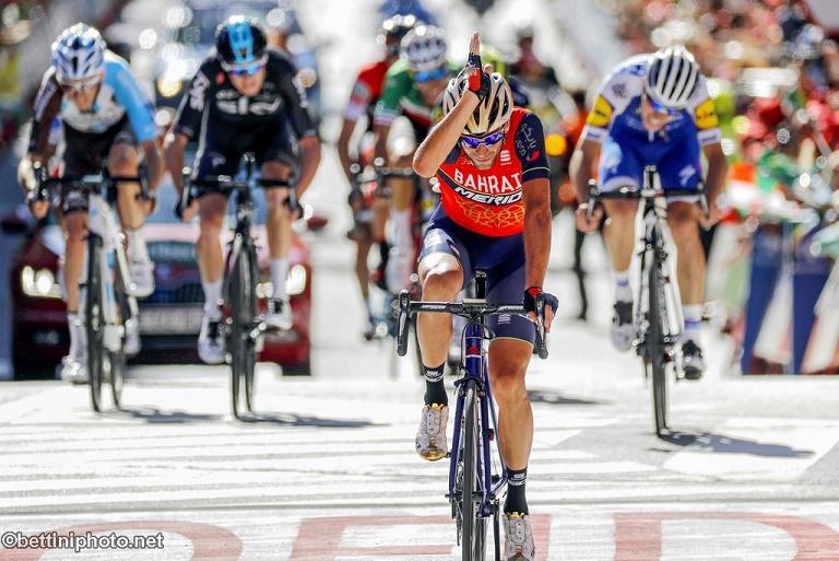 Vincenzo Nibali (Bahrain-Merida) gewinnt die 3. Etappe der Spainen-Rundfahrt 2017 - Foto: © Team Bahrain-Merida/ @BettiniPhoto