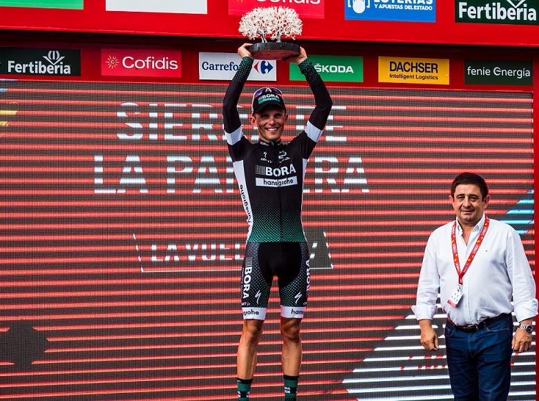 Solosieger der 14. Vuelta-Etappe 2017: Rafal Majka (Bora-hansgrohe) - Foto: © BORA-hansgrohe / Ralph Scherzer