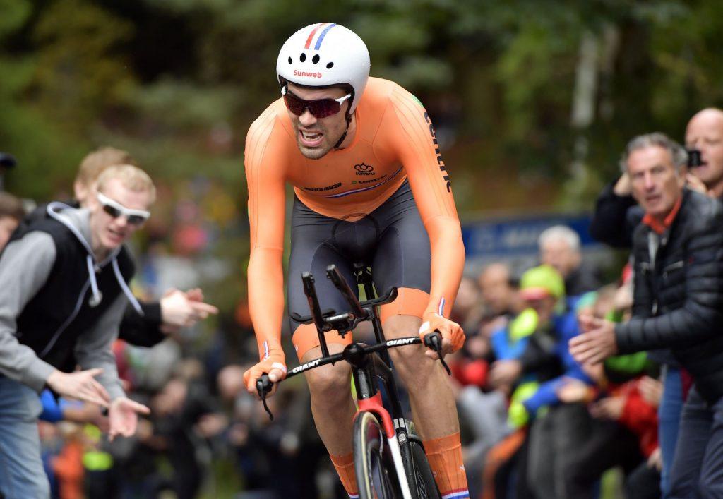 Tom Dumoulin auf dem Weg zum WM-Titel im Einzelzeitfahren - Foto: © Peter De Voecht / Photonews / Team Sunweb