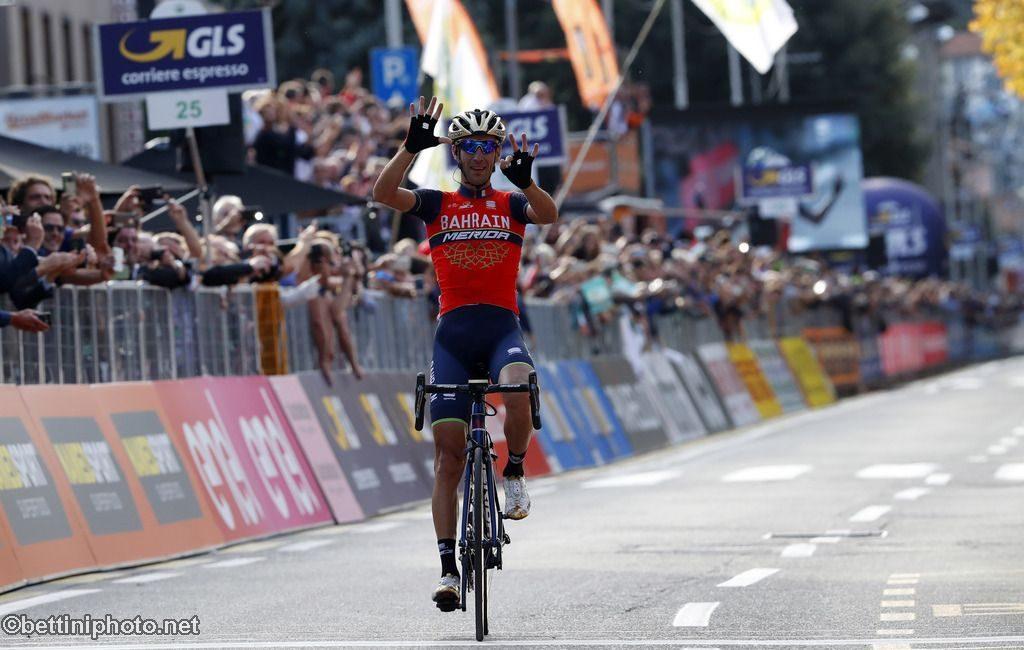 Zum zweiten Mal Sieger von Il Lombardia: Vincenzo Nibali (Bahrain-Merida) - Foto: © Team Bahrain-Merida/ @ BettiniPhoto