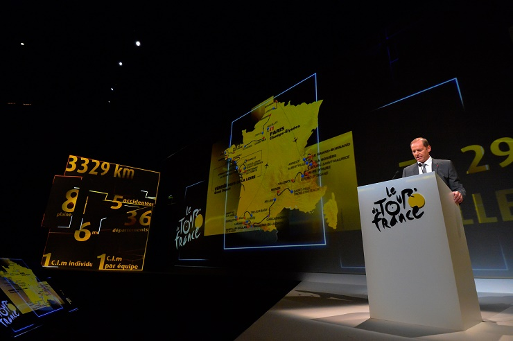 Tour-Direktor Christian Prudhomme stellt in Paris den Kurs der Tour de France 2018 vor - Foto: A.S.O.