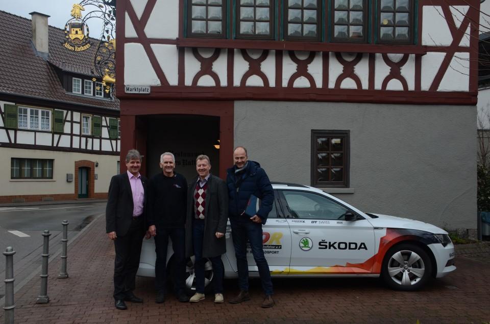Einhausens Bürgermeister Glanzner, Organisator Oleknavicius, BDR-Sportdirektor Patrick Moster, und Generalsekretär Martin Wolf (v.li.n.re.) - Foto: BDR