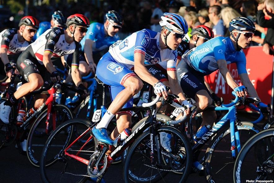 Georg Preidler bei der Tour Down Under im Trikot seines neuen Arbeitgebers FDJ - Foto: Pressesports