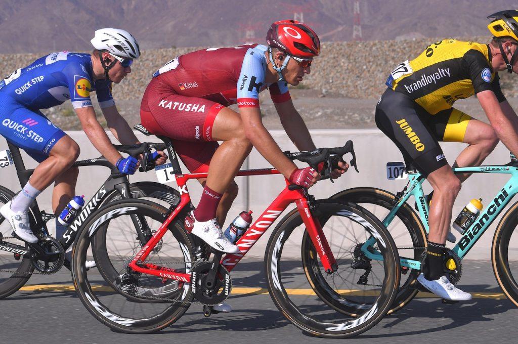 Knapp vorbei am ersten Saisonsieg: Marcel Kittel (Katusha-Alpecin) auf der 3. Etappe der Dubai Tour 2018 - Foto: © Tim De Waele / Getty Images