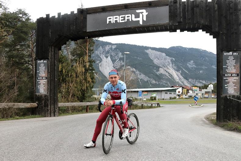 Tony Martin (Katusha-Alpecin) bei der Streckenbesichtigung für die WM in Innsbruck - Foto: Ötztal Tourismus – Isidor Nösig