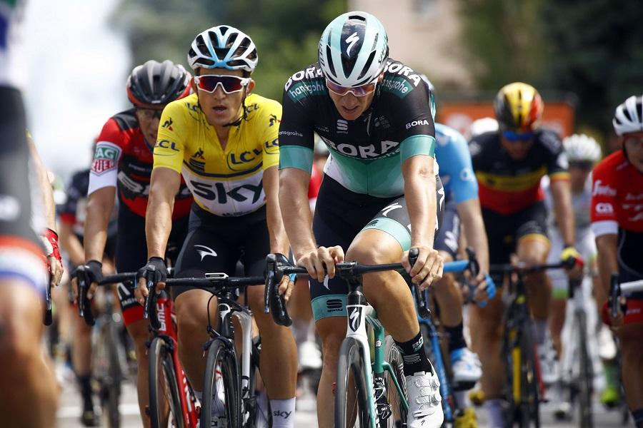 Pascal Ackermann (Bora-hansgrohe) im Ziel der 1. Etappe beim Critérium du Dauphiné - Foto: © BORA - hansgrohe / Bettiniphoto