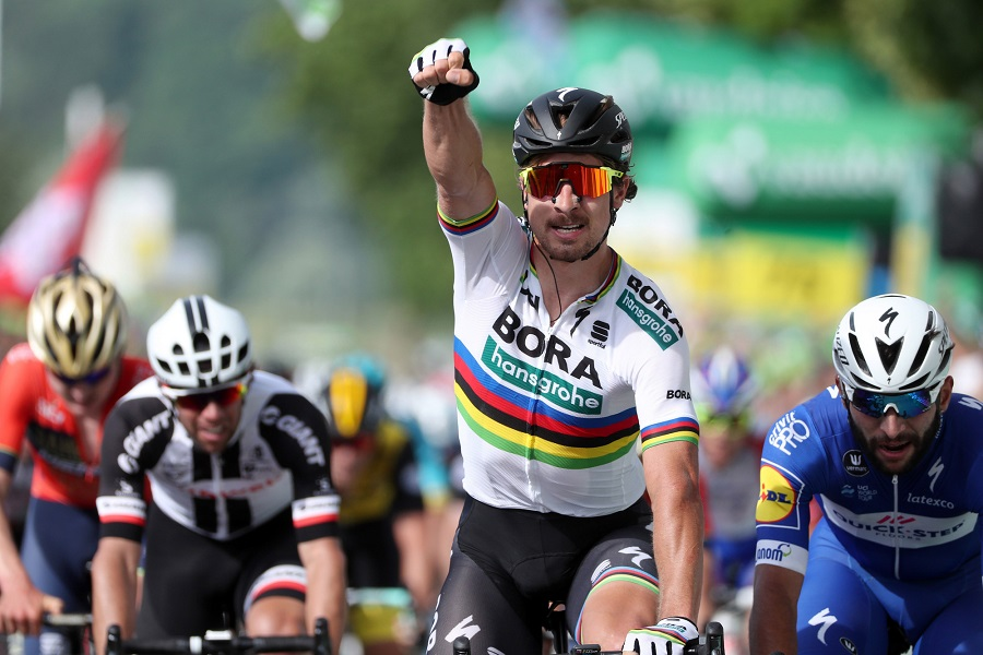 Zum 16. Mal erfolgreich in der Schweiz: Weltmeister Peter Sagan (Bora-hansgrohe) -Foto: © BORA - hansgrohe / Bettiniphoto