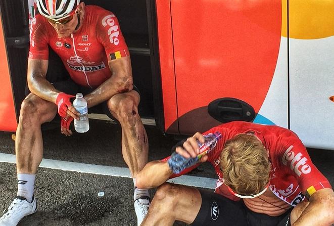 Mussten die Tour de France 2018 während der 13. Etappe beenden: André Greipel und Marcel Sieberg - Foto: Christoph Sicars