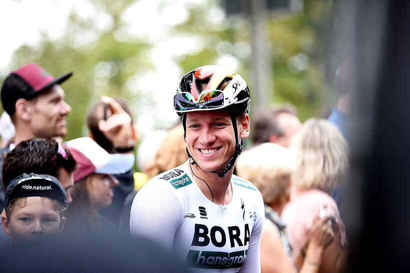 Durfte sich am Wochenende gleich zweimal über eine Sieg freuen: Pascal Ackermann (Bora-hansgrohe) - Foto: © Tana Hell / Instagram: @bytanahell