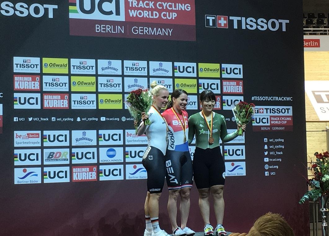 Fuhr beim Bahnrad-Weltcup gleich zweimal zu Silber: Emma Hinze - Foto: Christoph Sicars