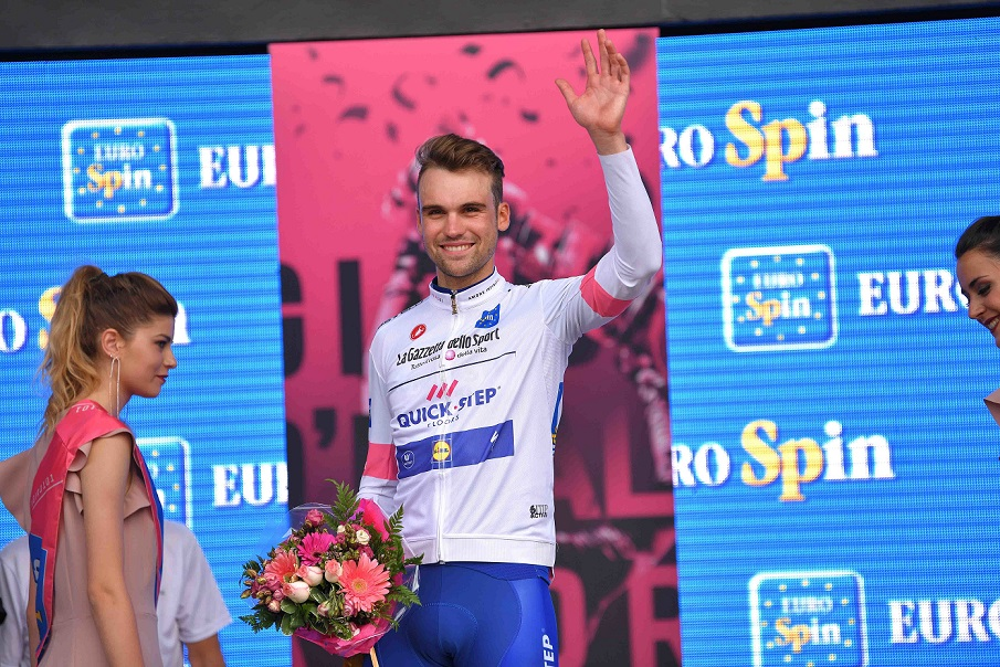 Fährt ab 2019 im Bora-hansgrohe-Trikot: Giro-Etappensieger Maximilian Schachmann (Quick-Step Floors) - Foto: © Quick-Step Floors Cycling Team / Getty Images / Tim de Waele